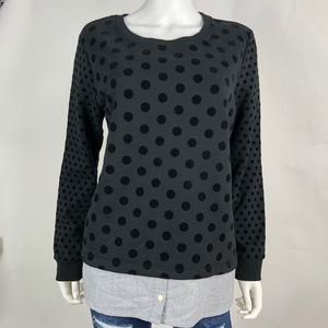 Tommy Hilfiger Women's Large Sweater Black Dots